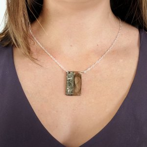 Memorial necklace for hair and ashes