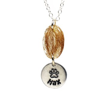Memorial necklace with custom name charm