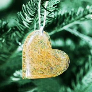 Memorial heart ornament filled with your pet or loved one's hair or ashes