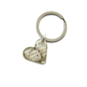 Forever and always heart keychain