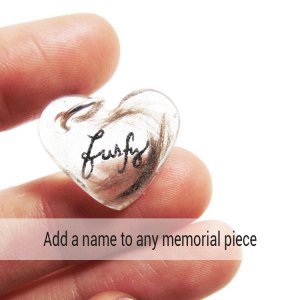Add a name to any memorial piece