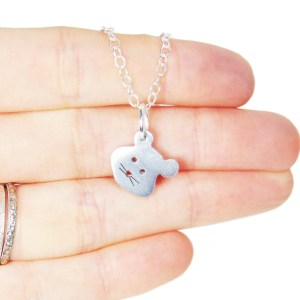 Handmade hamster charm necklace