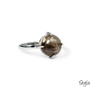 Memorial ring created with your pet or loved one's hair or ashes