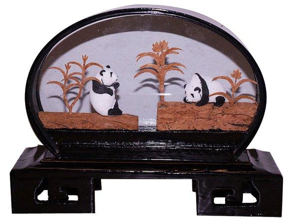 Chinese Cork Art Hand Carved China