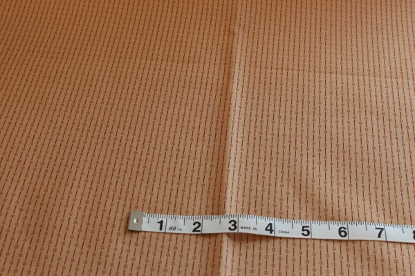 Red Dotted Stripes on Tan Fabric