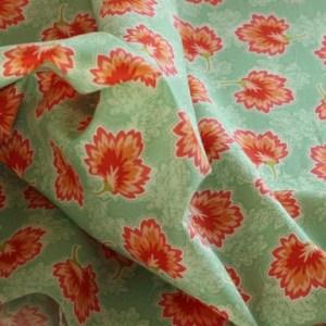Moda Orange Floral Fabric Material