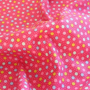 Me and My Sister Multi Coloured Spots Fabric Material