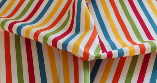 Multi Striped Fabric Material