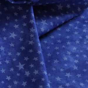 White Stars on Royal Blue Fabric Material