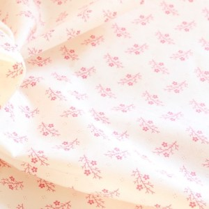 Moda Pink Leaf Fabric Material