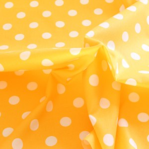 Dorrie Yellow with White Spots Fabric Material
