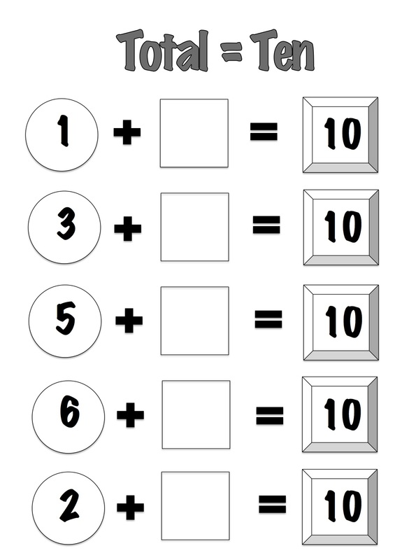 Total = Ten Game for learning numbers that add to ten