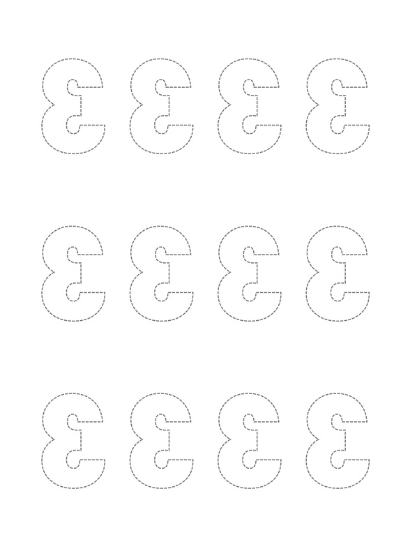 Reversed Number and Letter Templates for Scrapbooking and