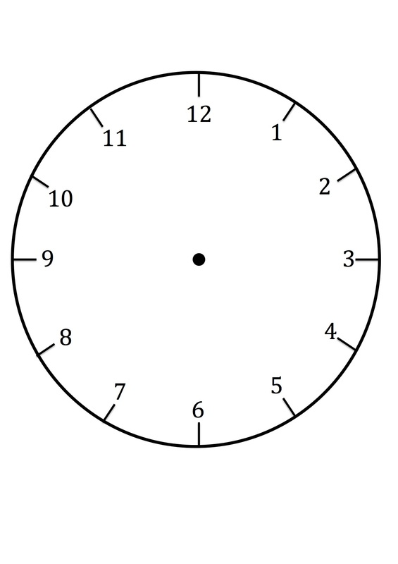 Clock Faces For Use In Learning To Tell The Time