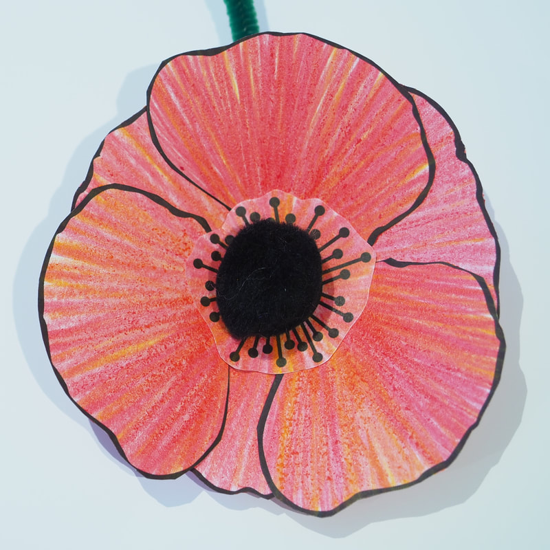 Colour In Poppies
