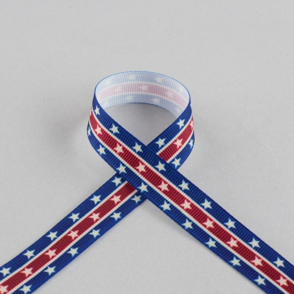 "5 8"" Stars & Stripes Grosgrain Ribbon 20 Yards 25239"