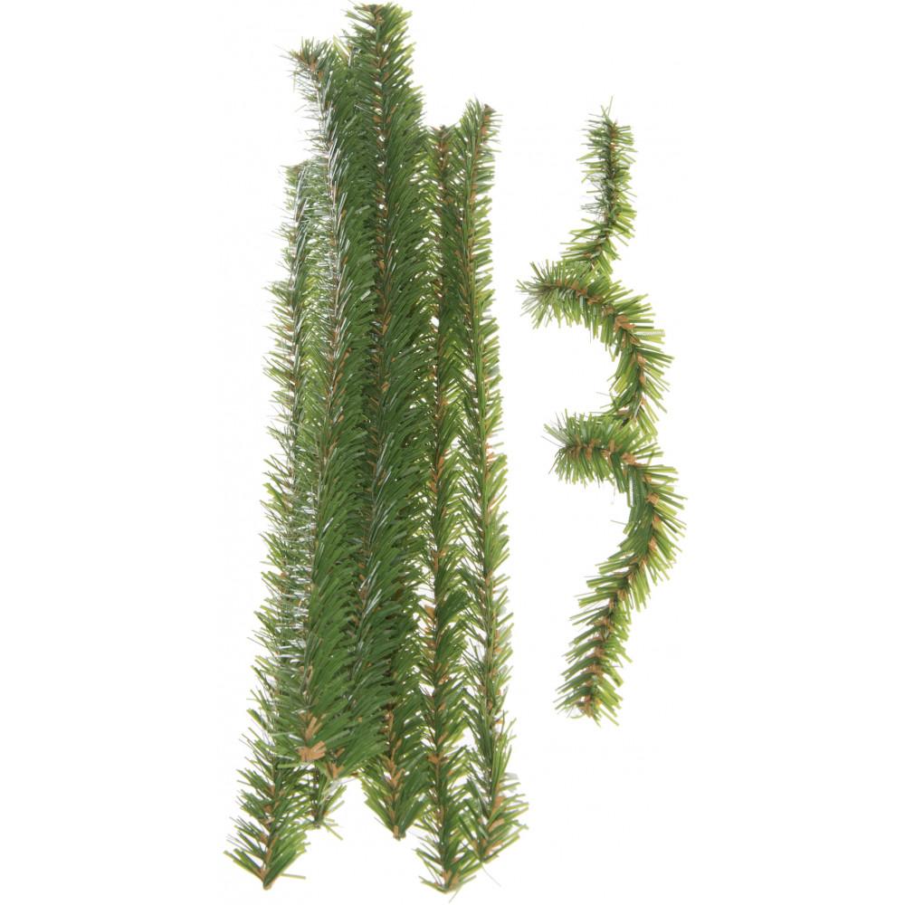 Green Pine Pipe Cleaners / Tinsel Ties (10) [2503