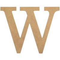 """10"""" Decorative Wood Letter: W [AB2047] - CraftOutlet.com"""