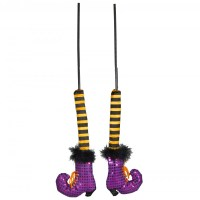 """15"""" Halloween Sequin Witch Legs On Stick (Pair) [M7539 ..."""