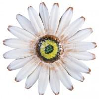 "10"" Metal Flower Wall Decor: White [OSW101962 ..."