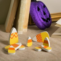 "3"" Wooden Candy Corn Decorations (Set of 3) [53085 ..."