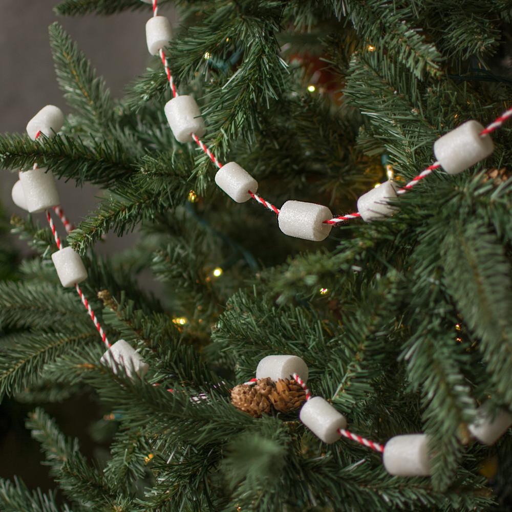 Decorating Christmas Garland