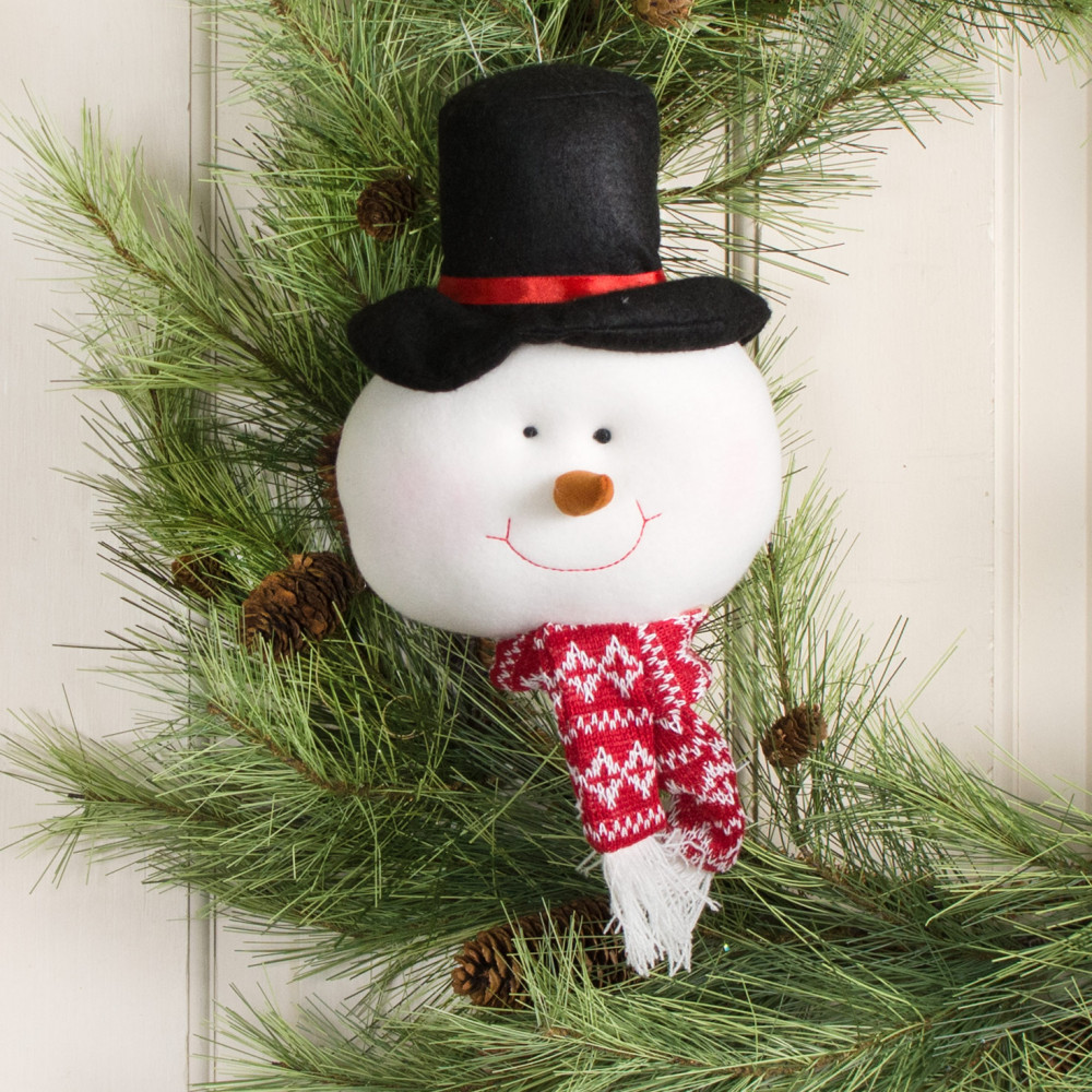 snowman face ornament