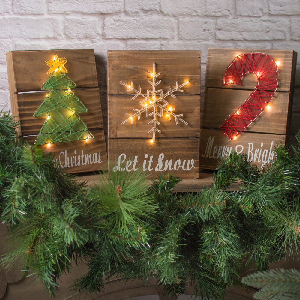 11 Quot Holiday Light Up Box Sign Christmas Tree 67130