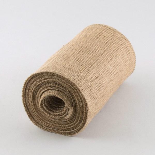 "9"" Fine Weave Burlap Fabric Ribbon Natural 10 Yards"