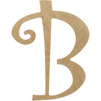 "14"" Decorative Wooden Curly Letter: B [AB2146 ..."