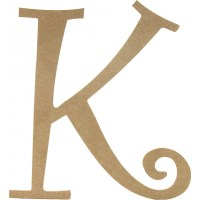 "14"" Decorative Wooden Curly Letter: K [AB2155 ..."