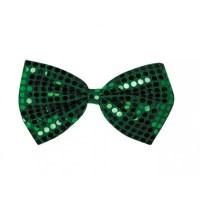 Jumbo Green Sequin Bow Tie [30702] - CraftOutlet.com