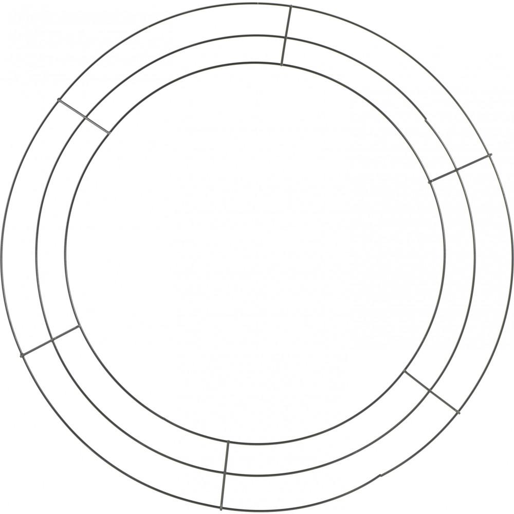 20-inch Wire Wreath Form: 3-Wire Black [MD005702