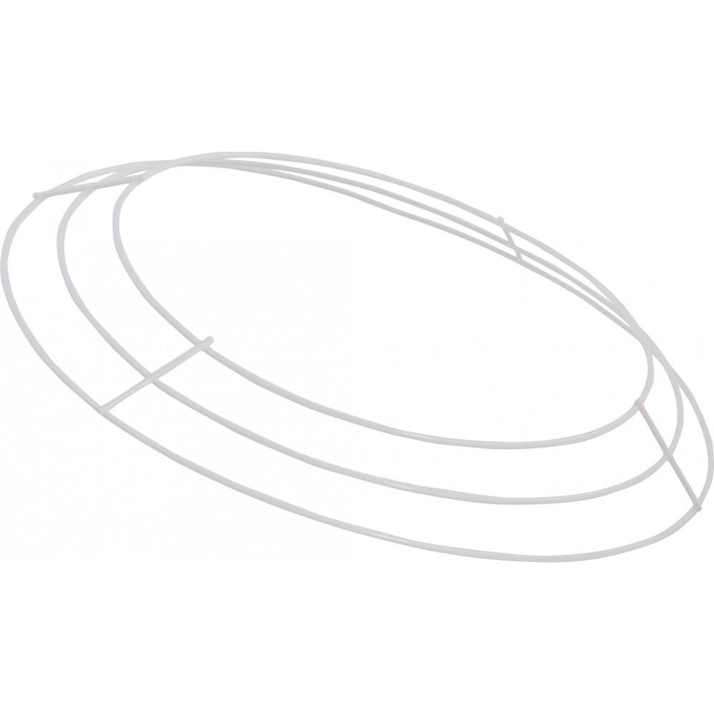 12-inch Wire Wreath Form: 3-Wire White [MD009027