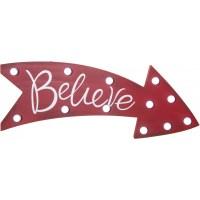 "16"" Believe Light Up Marquee Arrow Sign [65325 ..."