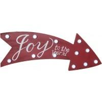 "16"" Joy Light Up Marquee Arrow Sign [65325] - CraftOutlet.com"