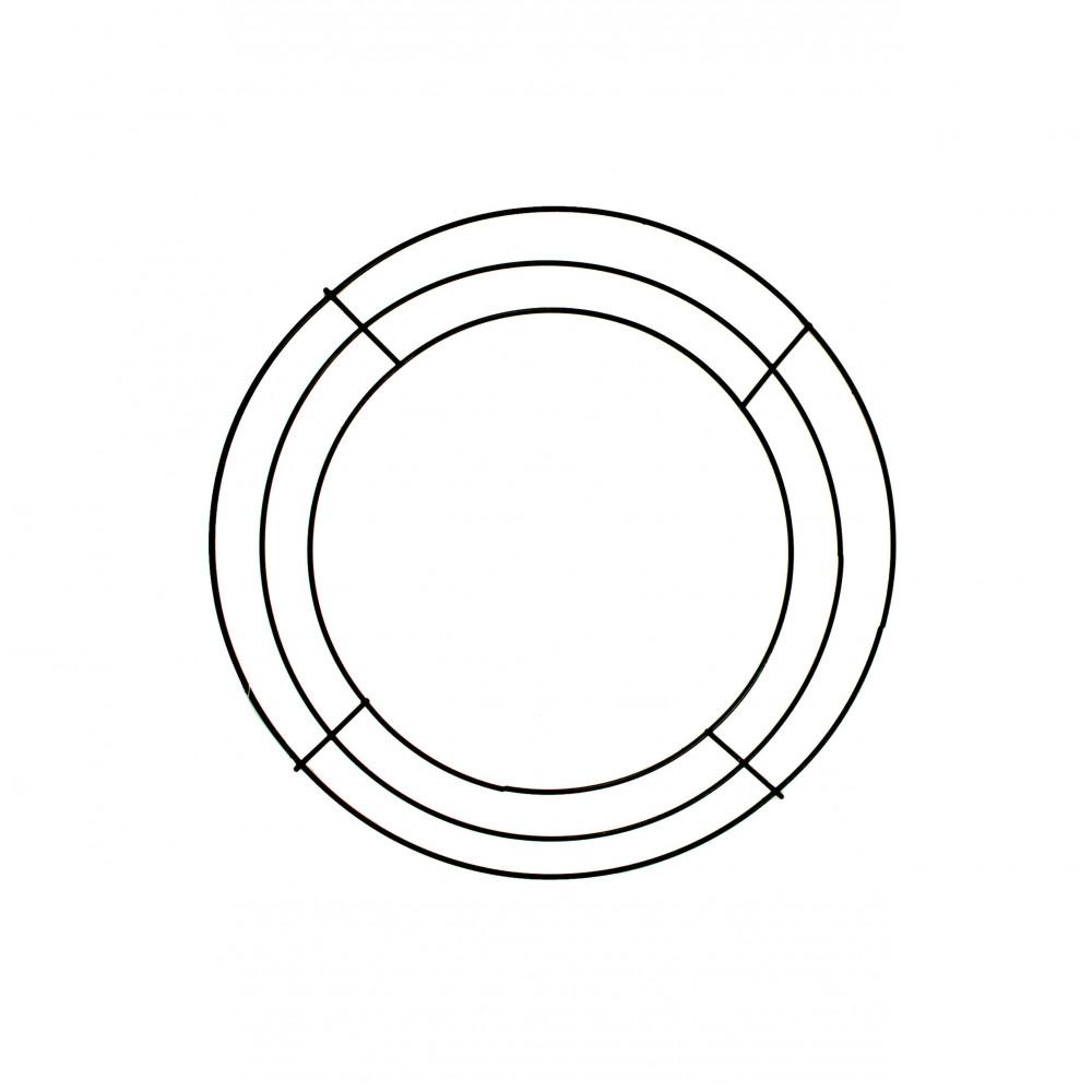10-inch Wire Wreath Form: 3-Wire Black [MD005202