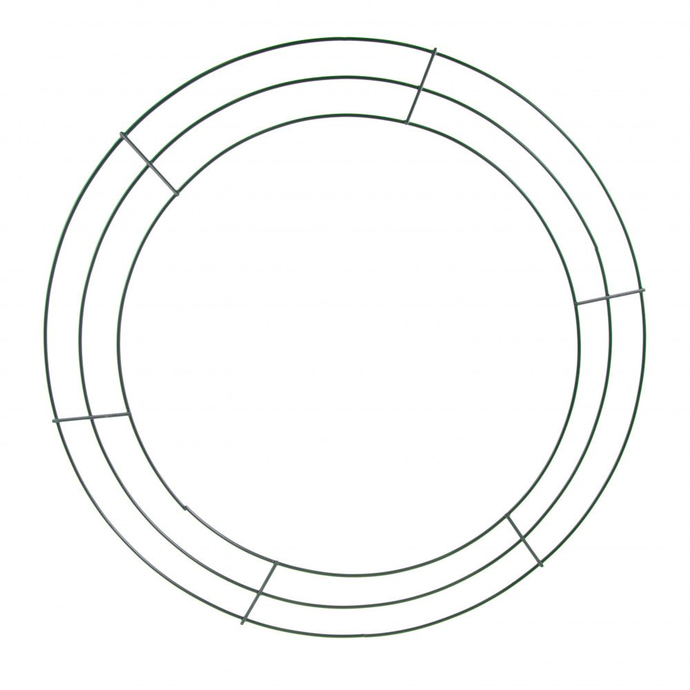 16-inch Wire Wreath Form: 3-Wire Green [MD005509