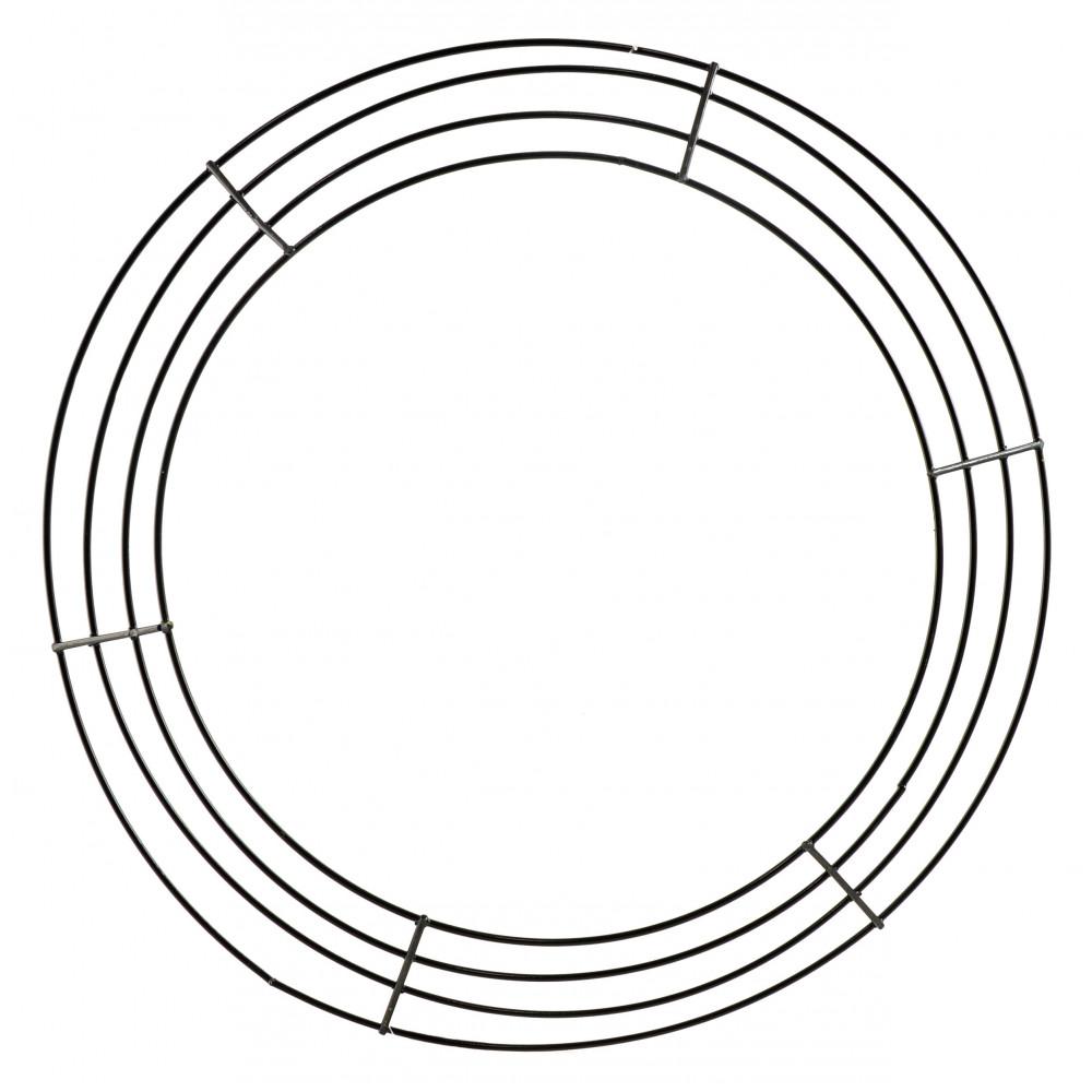 16-inch Wire Wreath Form: 4-Wire Black [MD008202
