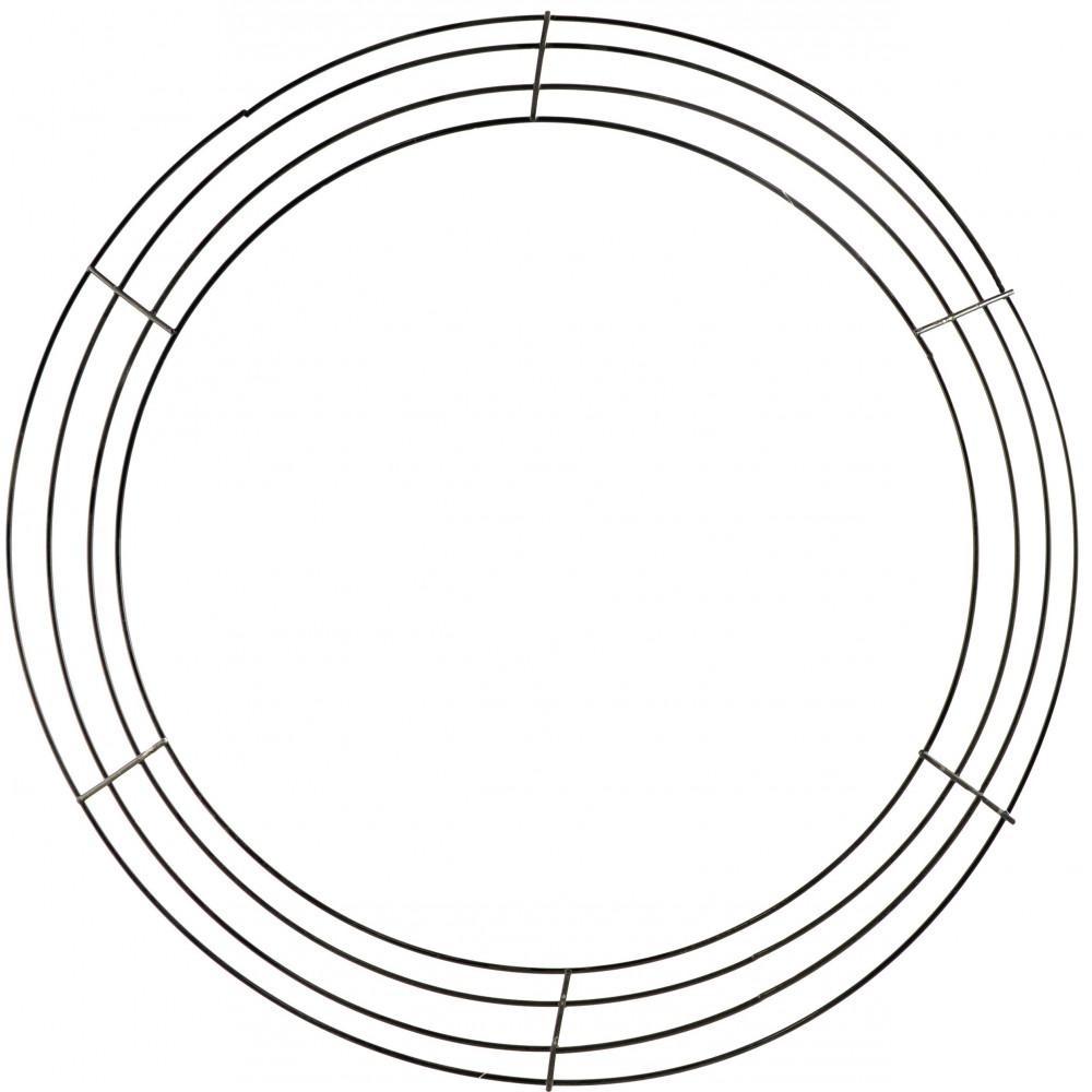 18-inch Wire Wreath Form: 4-Wire Black [MD008302