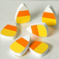 "1.75"" Wooden Candy Corn Decorations (Set of 6) [53086 ..."