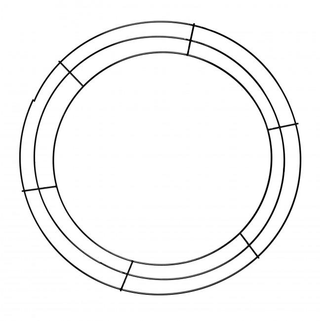 16-inch Wire Wreath Form: 3-Wire Black [MD005502