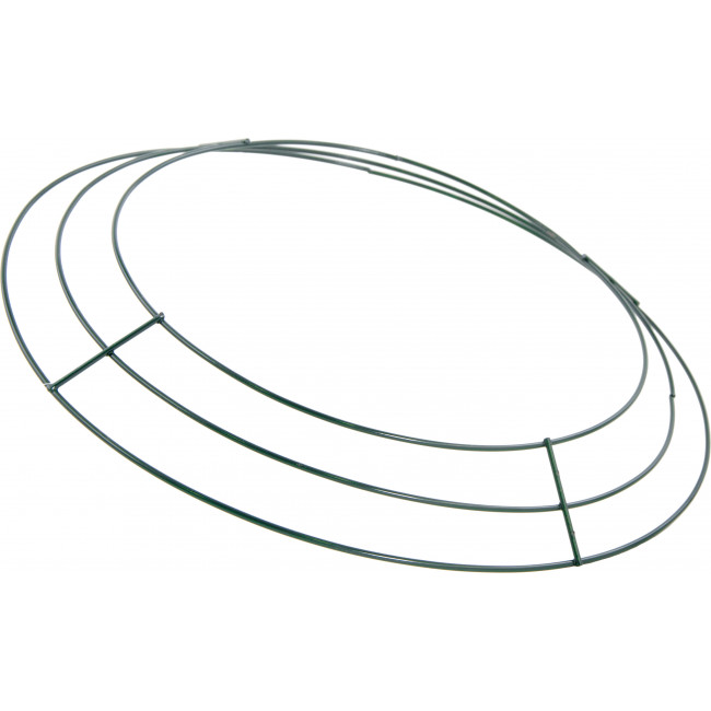 12-inch Wire Wreath Form: 3-Wire Green [MD005309