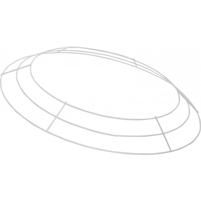 16-inch Wire Wreath Form: 3-Wire White [MD009227