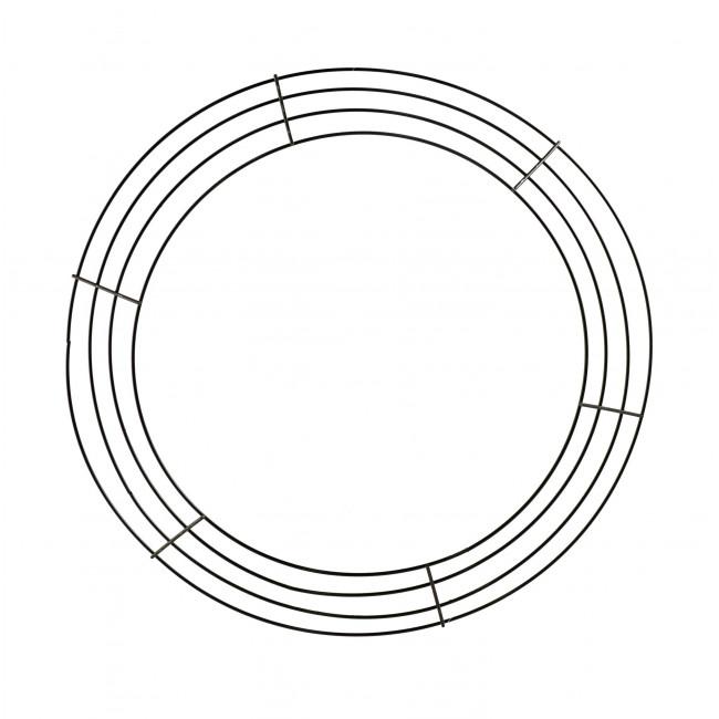 14-inch Wire Wreath Form: 4-Wire Black [MD008002
