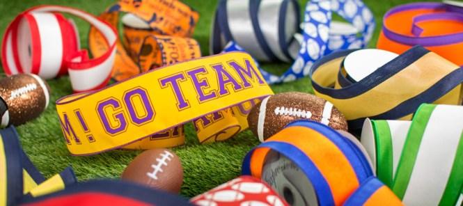 Football Ribbon And Picks