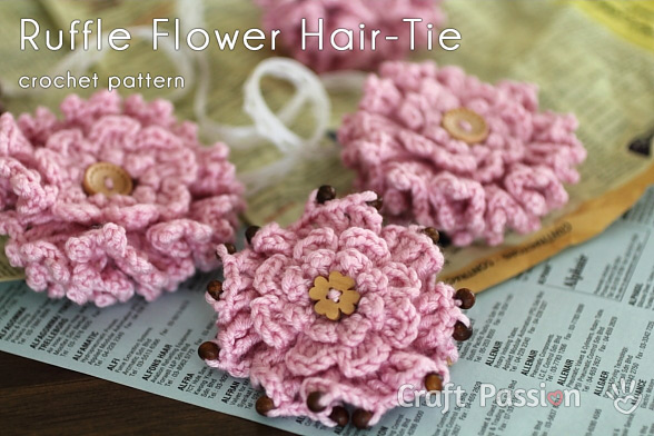 Layered Ruffle Flower Free Crochet Pattern Craft Passion