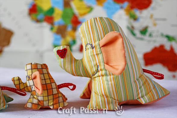 The Elephnat Family sewing pattern