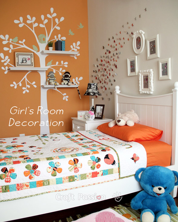 Girl\'s Bedroom Decoration Ideas - Home Decor | Craft Passion