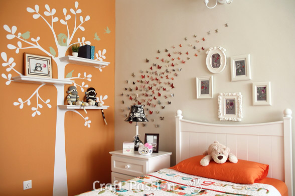 tree wall decal girl's bedroom decoration ideas